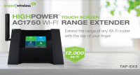 Amped Wireless TAP-EX3 AC1750 Touch Screen Range Extender Released