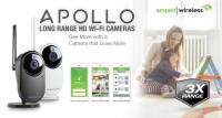 Amped Wireless APOLLO and APOLLO PRO Long Range HD Wi-Fi Cameras Debut