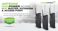 Amped Wireless ARTEMIS High Power AC1300 Wi-Fi Router Debuts