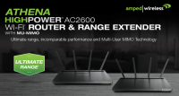 Amped Wireless ATHENA-R2 AC2600 Wi-Fi Range Extender Introduced