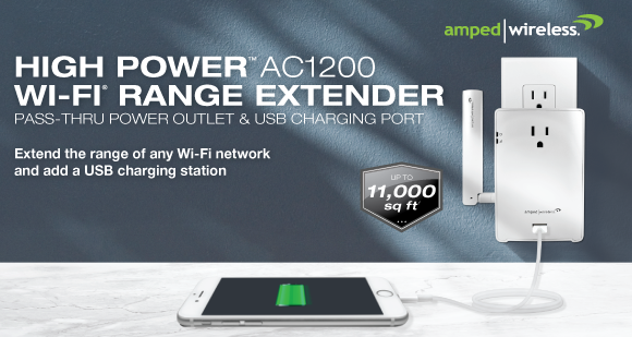 Amped Wireless REC22P Wi-Fi Range Extender Launched
