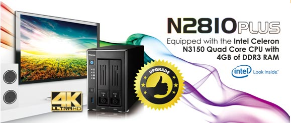 Thecus N2810PLUS 2-bay NAS Introduced