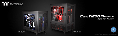 Thermaltake TT Premium Core WP200 and W200 Super-Tower Chassis Announced