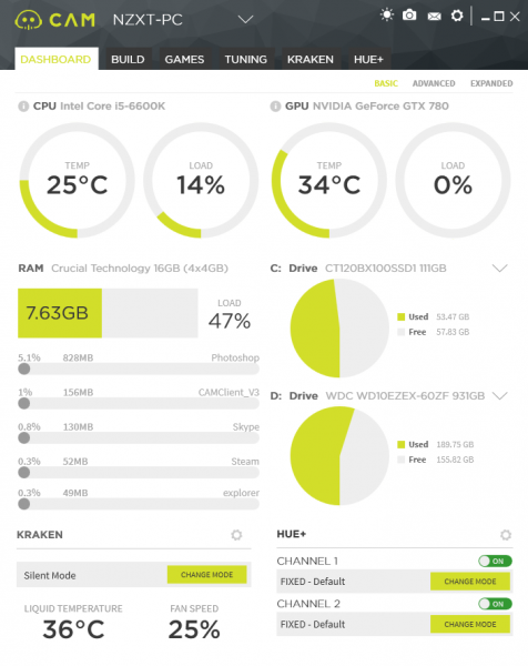 NZXT CAM 3.1 Monitoring Software Announced