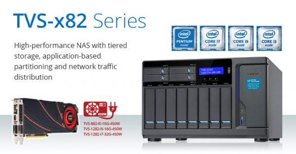 QNAP TVS-x82 Business NAS Announced