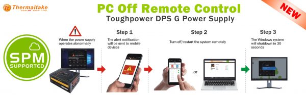 Thermaltake SPM Function PC Off Remote Control Mobile App Launched