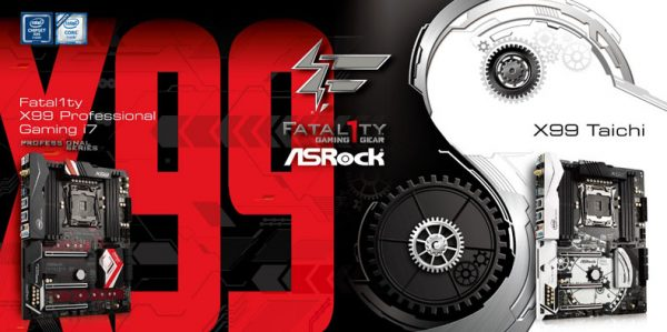 ASRock X99 Taichi and Fatal1ty X99 Professional Gaming i7 Motherboards Announced
