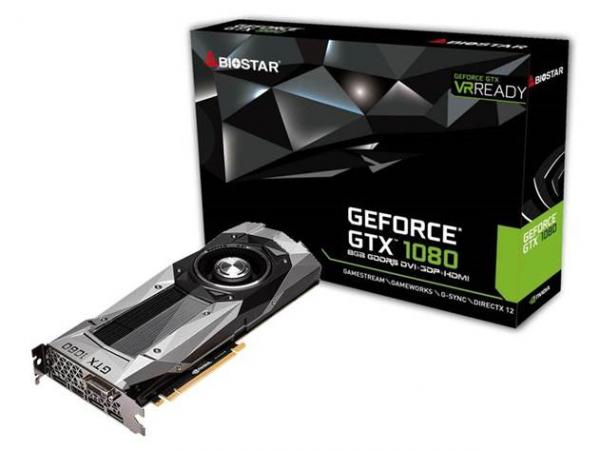 BIOSTAR GeForce GTX 1080 Graphics Card Announced