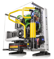 Thermaltake Core P3 Snow White and Black Edition ATX Wall-Mount Chassis Announced