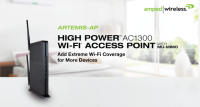 Amped Wireless ARTEMIS-AP High Power AC1300 Wi-Fi Access Point Released