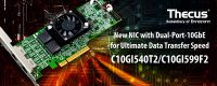 Thecus C10GI540T2 and C10GI599F2 Network Interface Cards Launched