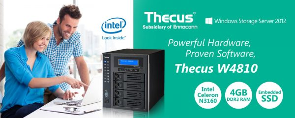 Thecus W4810 Windows Storage Server Launched