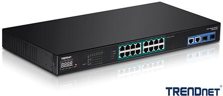 TRENDnet TPE-3018L 18-Port Gigabit NVR PoE+ Switch Announced