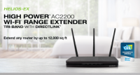 Amped Wireless HELIOS-EX Tri-Band Wi-Fi Range Extender Released