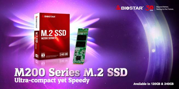 BIOSTAR M200 M.2 SSD Launched