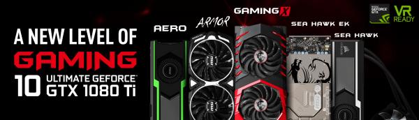 MSI GeForce GTX 1080 Ti Graphics Cards Introduced