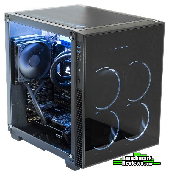 anidees AI Crystal Cube Lite Tempered Glass ATX Case Review