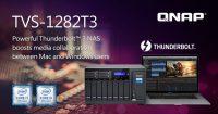 QNAP TVS-1282T3 Thunderbolt 3 NAS Announced