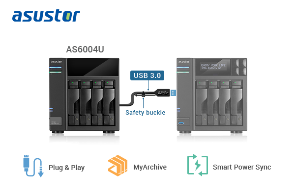 ASUSTOR AS6004U Storage Capacity Expansion Unit Launched