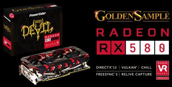 PowerColor RX580 Red Devil AXRX580 8GBD5-3DHG/OC Video Card Debuts