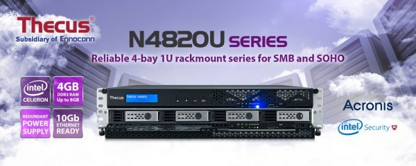 Thecus N4820U 4-Bay Rackmount NAS Series AnnouncedThecus N4820U 4-Bay Rackmount NAS Series Announced
