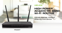 Amped Wireless HELIOS Tri-Band Router Announced