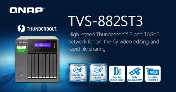QNAP TVS-882ST3 8-bay 2.5-inch Thunderbolt 3 NAS Announced