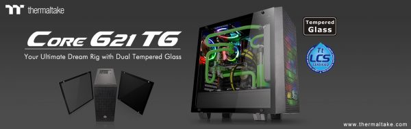 Thermaltake Core G21 Tempered Glass Edition Mid-Tower Chassis Launched