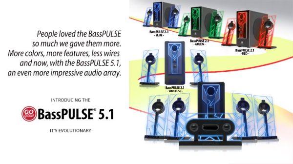GOgroove BassPULSE 5.1 Channel Surround Sound Speakers Announced