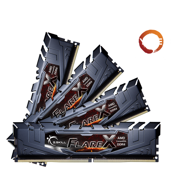 Ultra-High Frequency Flare X Series Memory Kits at DDR4-3600MHz 32GB (8GBx4)