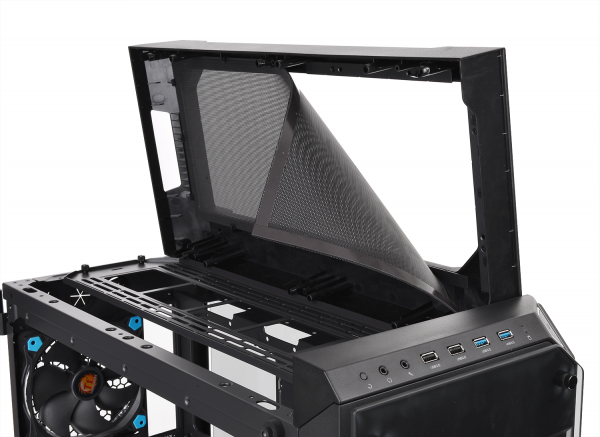 Thermaltake View 71 Tempered Glass Edition Full-Tower Chassis Series-Top Fan Filter
