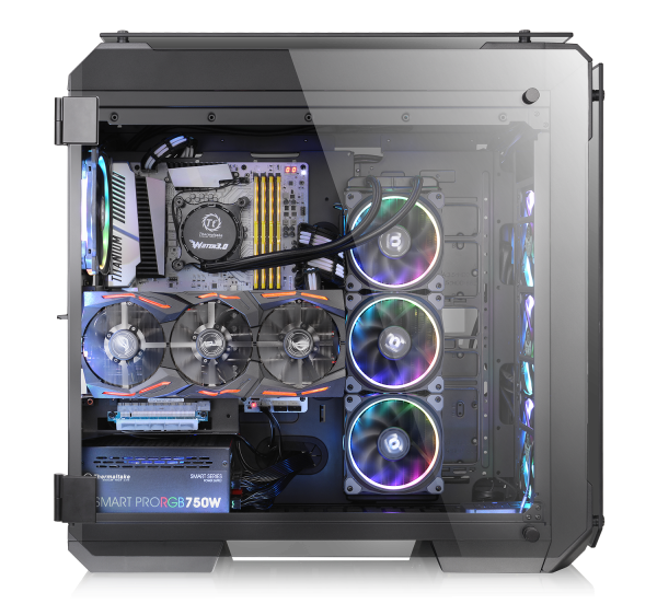 Thermaltake View 71 Tempered Glass Edition Full-Tower Chassis Series-Vertical Radiator View (VRV)