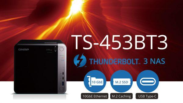 QNAP TS-453BT3 NAS Features Thunderbolt 3 Interface
