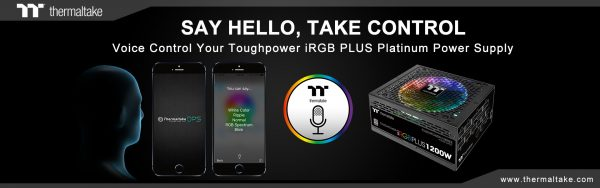 Thermaltake Releases Worlds First AI Voice Controlled Digital Power Supply