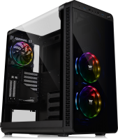 Thermaltake View 37 RGB Edition Mid-Tower Chassis is preinstalled with 3 built-in Riing Plus 140mm Hardware Control fans
