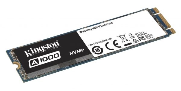 Kingston A1000 PCIe NVMeSSD Introduced