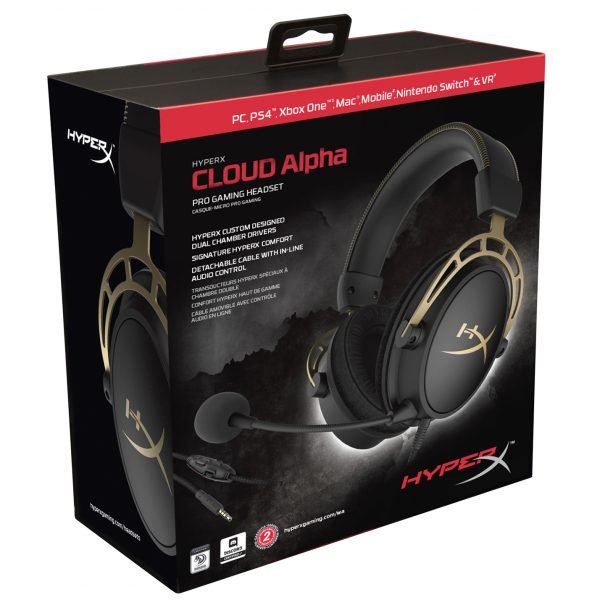 Kingston HyperX Cloud Alpha Gold Edition Pro Gaming Headset Review Package Front