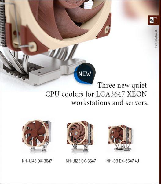 Noctua NH-U14S DX-3647 CPU Cooler for LGA3647 Xeon Debuts