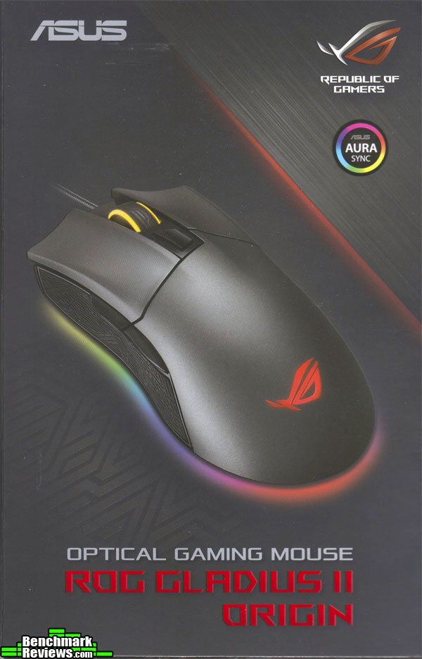 ASUS ROG Gladius II Origin USB Corded Optical Gaming Mouse