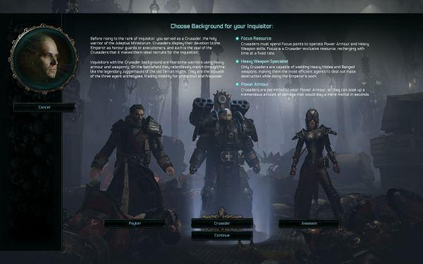 Warhammer 40,000 Inquisitor - Martyr Review Character Creation