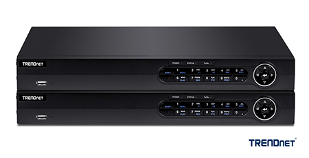 TRENDnet H.265 HD PoE+ NVR Support 4K UHD Channels