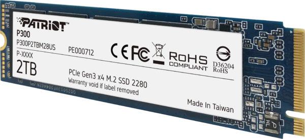 PATRIOT P300 m.2 PCIe Gen3 x4 SSD Debuts