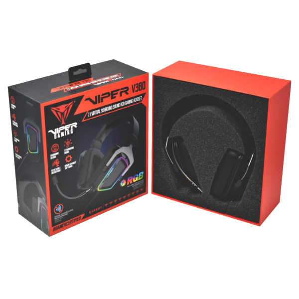 Patriot Viper V380 7.1 Virtual RGB Gaming Headset G